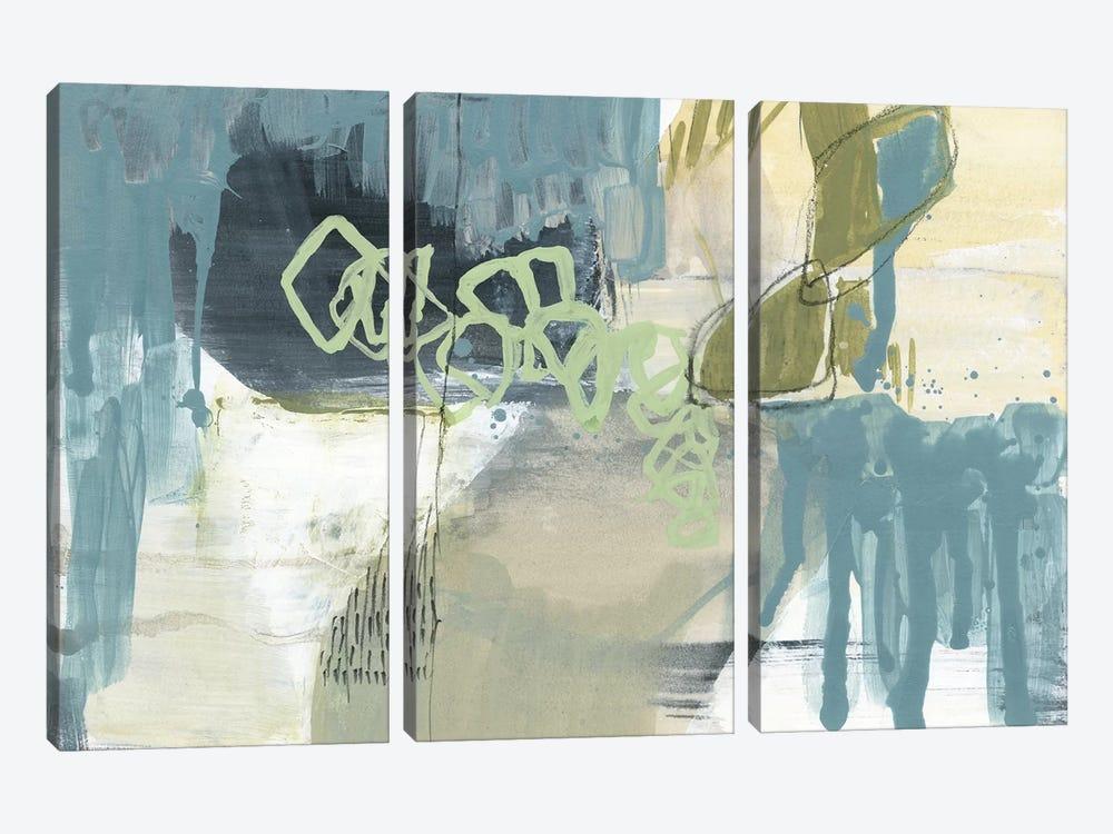 Blue Exploration II by Jennifer Goldberger 3-piece Canvas Art Print