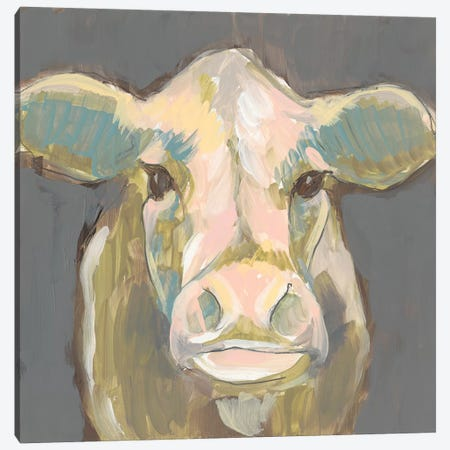 Blush Faced Cow I Canvas Print #JGO910} by Jennifer Goldberger Canvas Print