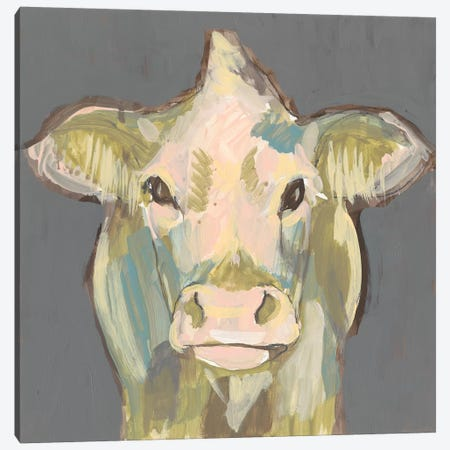 Blush Faced Cow II Canvas Print #JGO911} by Jennifer Goldberger Art Print