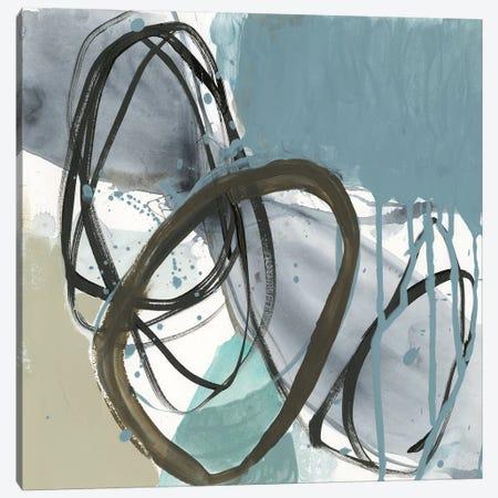 Umber and Black on Blue I 3-Piece Canvas #JGO927} by Jennifer Goldberger Canvas Print