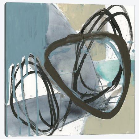 Umber and Black on Blue II 3-Piece Canvas #JGO928} by Jennifer Goldberger Canvas Artwork