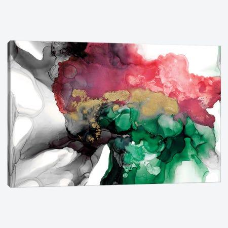 Emerald & Coral Expression I Canvas Print #JGO954} by Jennifer Goldberger Canvas Artwork
