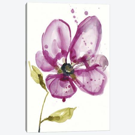 Violet Petals I Canvas Print #JGO956} by Jennifer Goldberger Canvas Wall Art