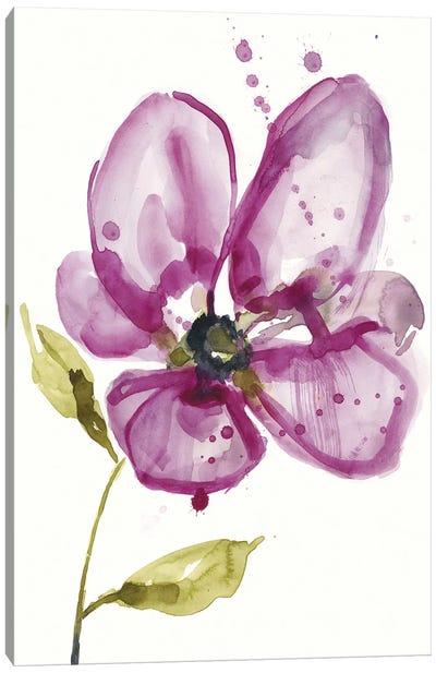 Violet Petals I Canvas Art Print