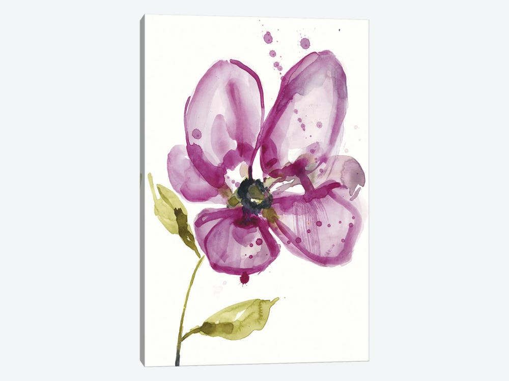 Violet Petals I by Jennifer Goldberger 1-piece Canvas Art Print