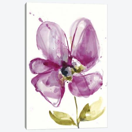 Violet Petals II Canvas Print #JGO957} by Jennifer Goldberger Canvas Wall Art