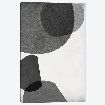 Grey Shapes I Canvas Print #JGO962} by Jennifer Goldberger Canvas Wall Art