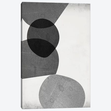 Grey Shapes II Canvas Print #JGO963} by Jennifer Goldberger Canvas Wall Art