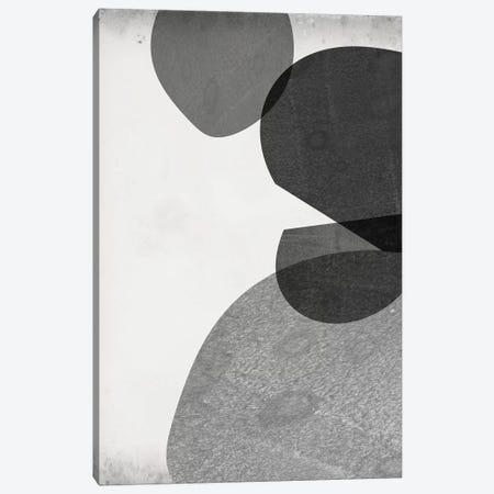 Grey Shapes IV 3-Piece Canvas #JGO965} by Jennifer Goldberger Art Print