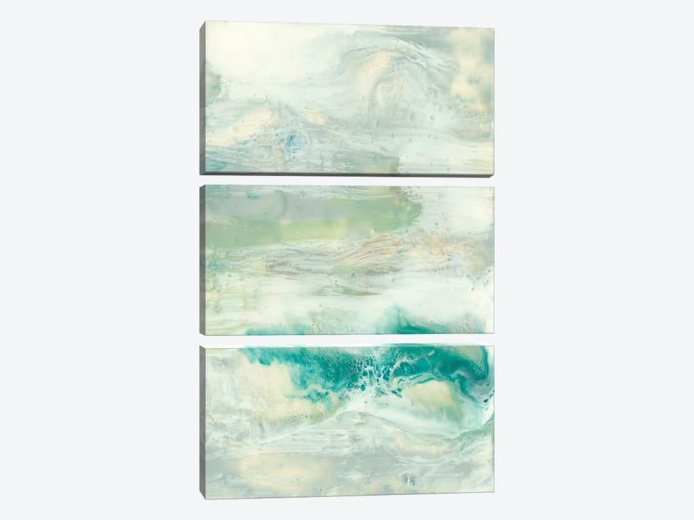 Serene Seafoam I by Jennifer Goldberger 3-piece Canvas Wall Art
