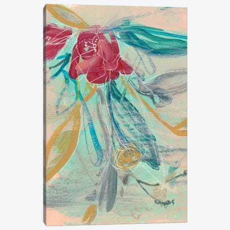 Tropical Bouquet I Canvas Print #JGO970} by Jennifer Goldberger Canvas Print