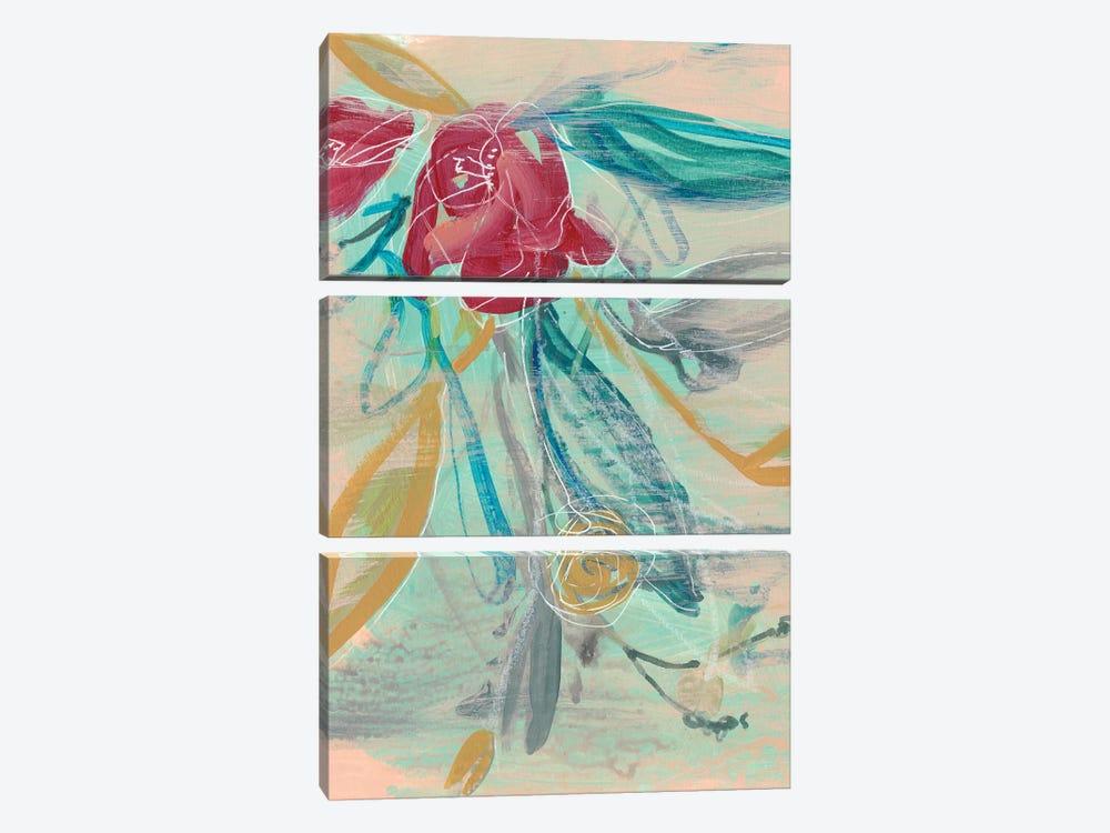 Tropical Bouquet I by Jennifer Goldberger 3-piece Canvas Art Print