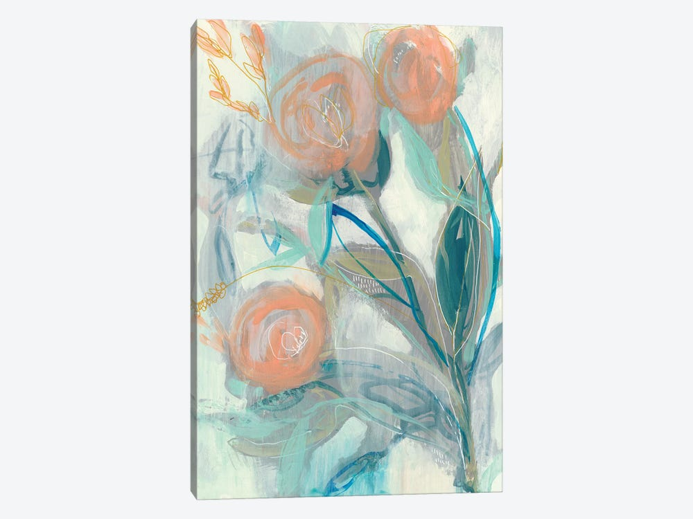 Flower Grouping I by Jennifer Goldberger 1-piece Canvas Print