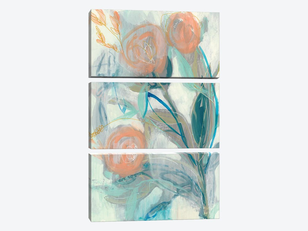 Flower Grouping I by Jennifer Goldberger 3-piece Art Print
