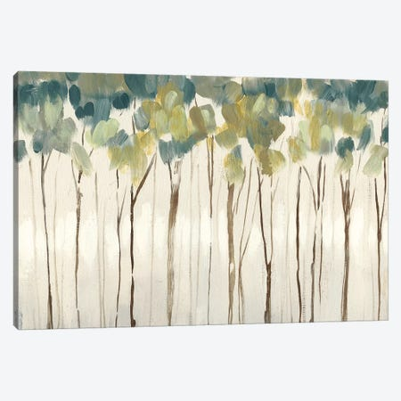 Viridian Treeline II Canvas Print #JGO979} by Jennifer Goldberger Art Print