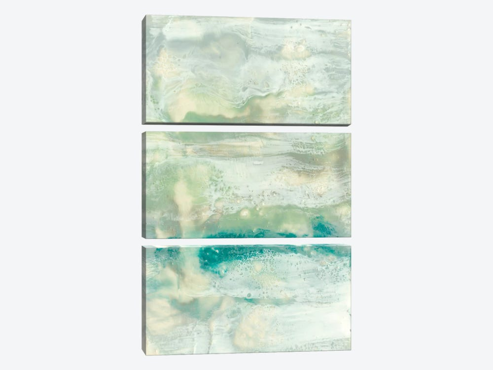 Serene Seafoam II by Jennifer Goldberger 3-piece Canvas Print