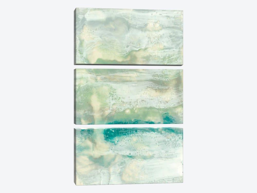 Serene Seafoam II by Jennifer Goldberger 3-piece Canvas Print