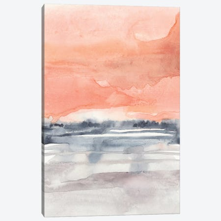 Coral Sky I Canvas Print #JGO994} by Jennifer Goldberger Canvas Artwork