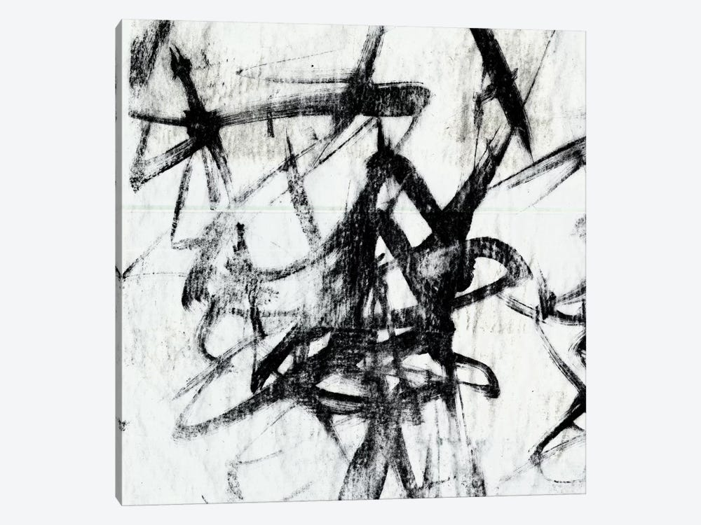 Monotype Scribble I by Jennifer Goldberger 1-piece Canvas Art Print