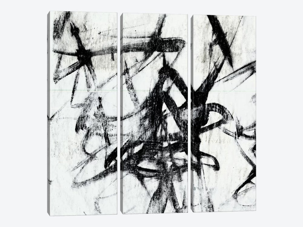 Monotype Scribble I by Jennifer Goldberger 3-piece Canvas Print