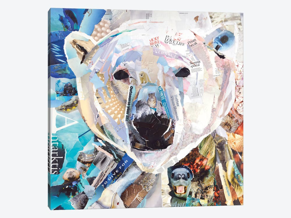 Polar Bear by James Grey 1-piece Canvas Art Print