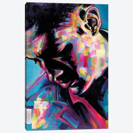Poser Canvas Print #JGR14} by James Grey Art Print