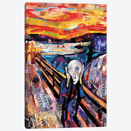 The Scream (Homage To Munch) Canvas Print #JGR17} by James Grey Art Print