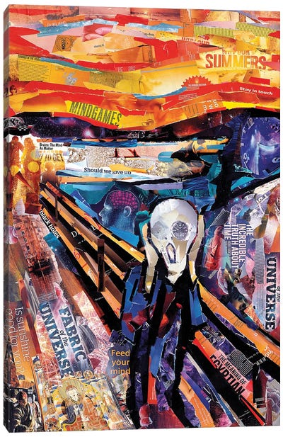 The Scream (Homage To Munch) Canvas Art Print