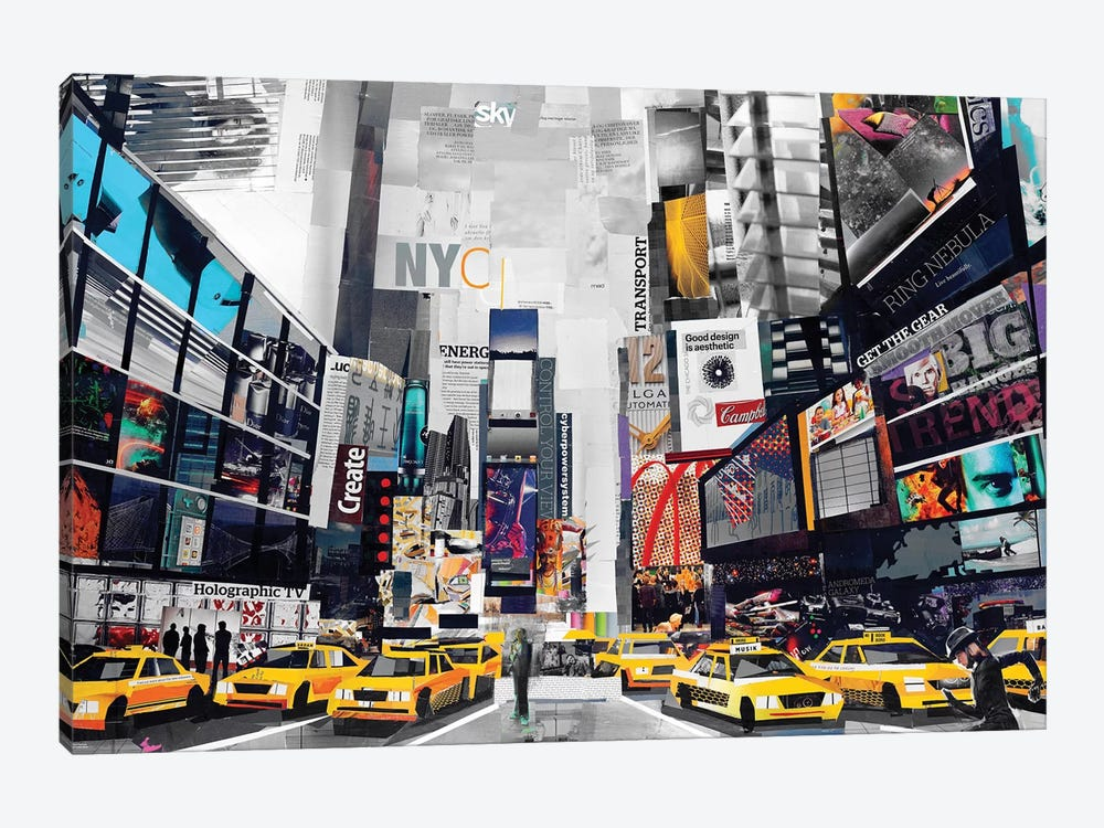 Times Square by James Grey 1-piece Canvas Artwork