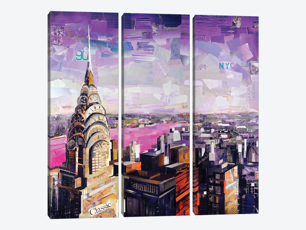 Chrysler VIew by James Grey 3-piece Canvas Art
