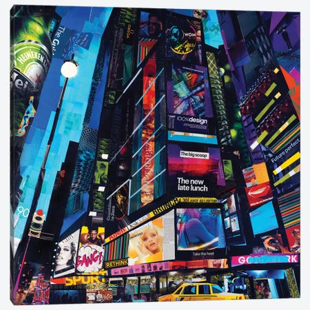 City Night Canvas Print #JGR2} by James Grey Canvas Art Print