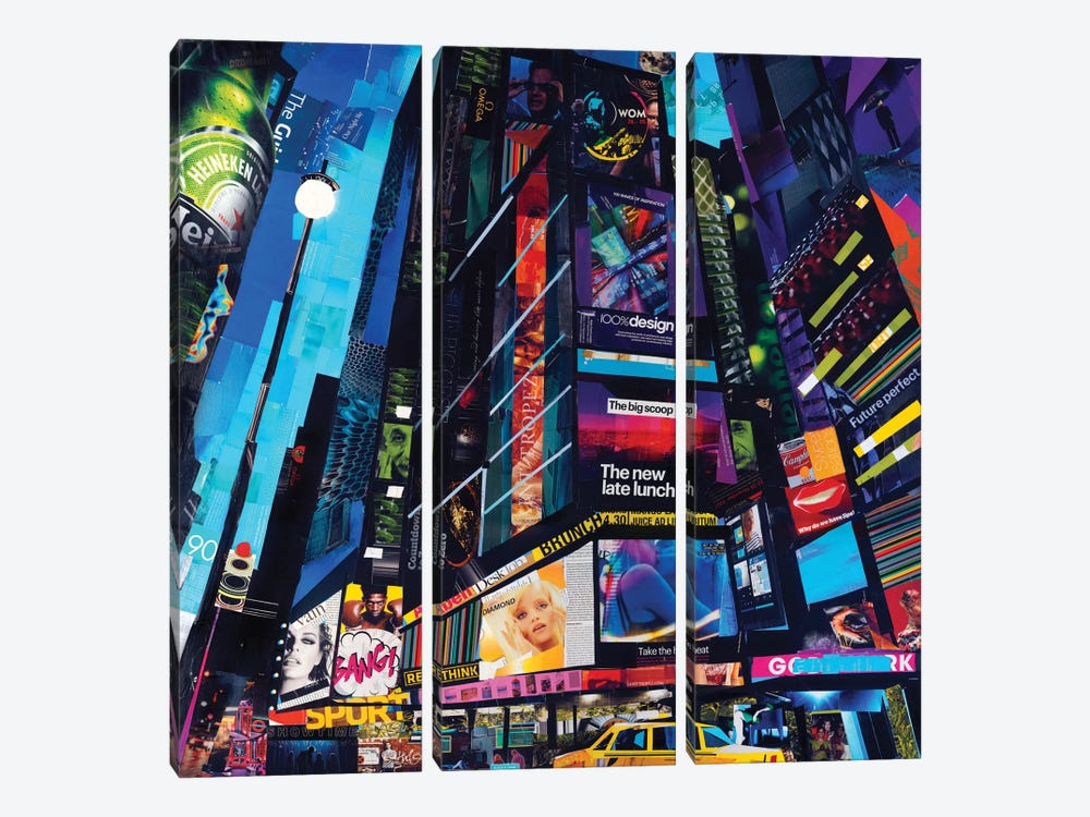 City Night by James Grey 3-piece Canvas Art Print