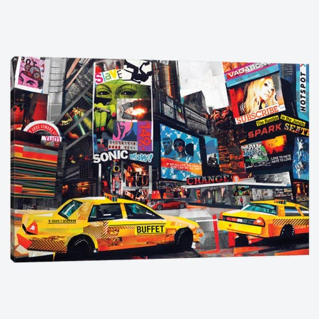 Downtown Canvas Print #JGR4} by James Grey Canvas Art