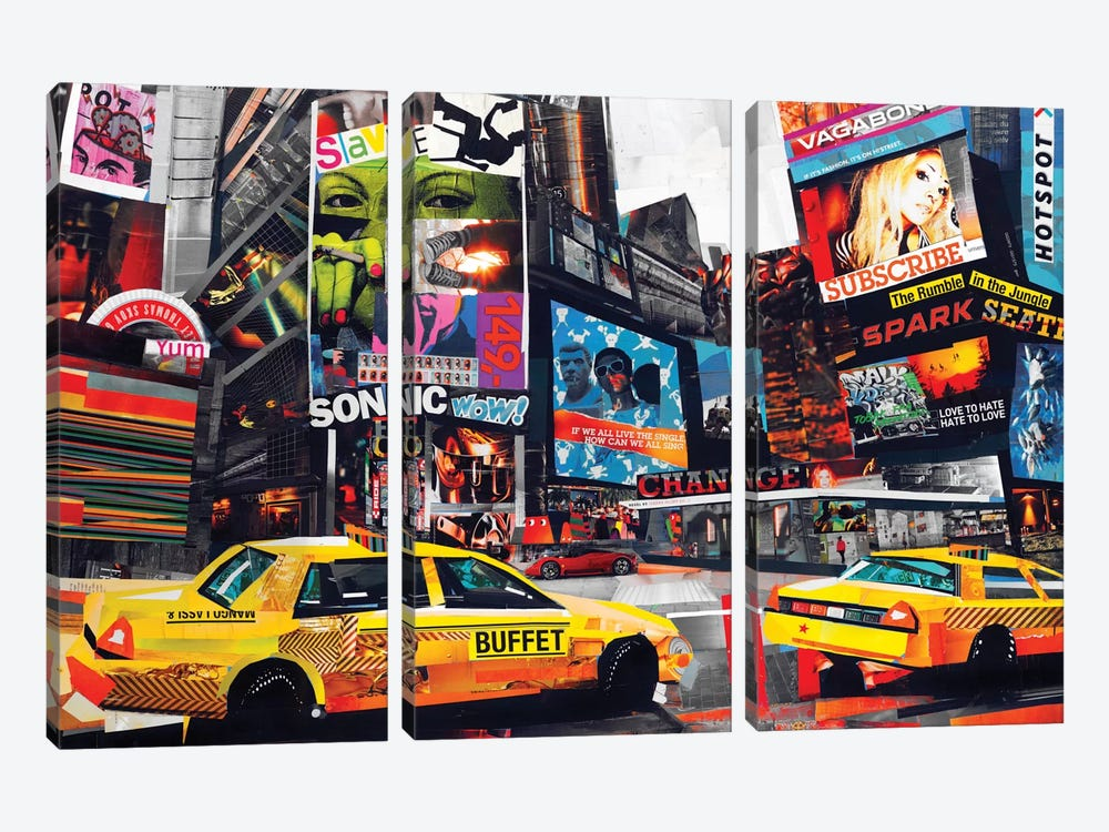 Downtown by James Grey 3-piece Art Print