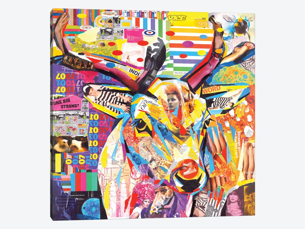 Funky Deer by James Grey 1-piece Canvas Artwork