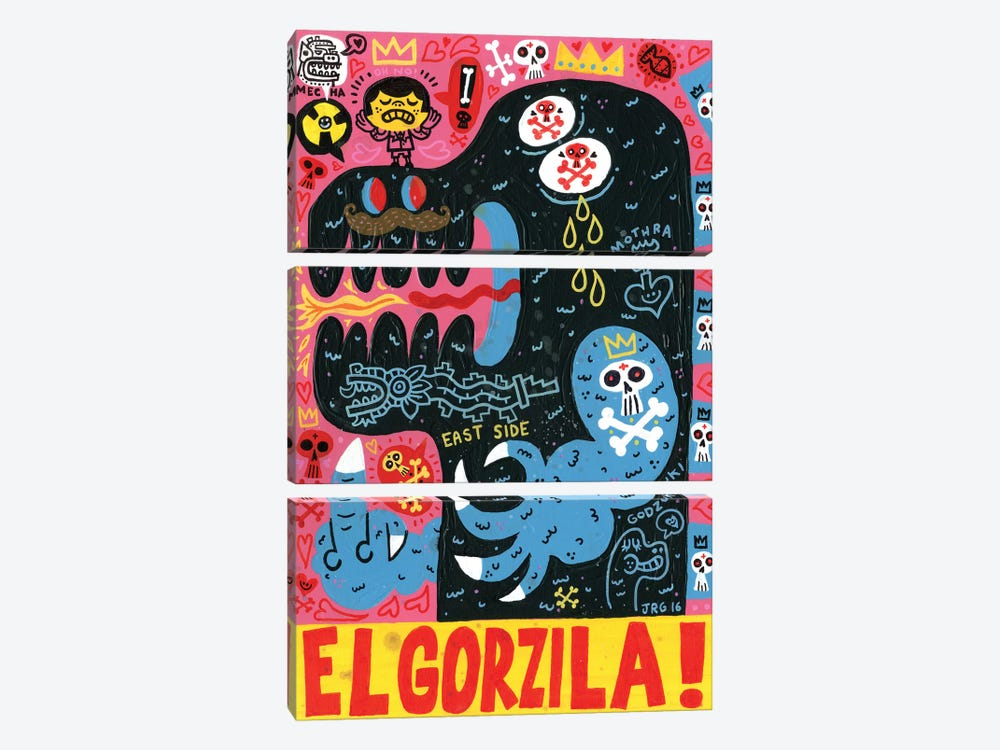 Monstro by Jorge R. Gutierrez 3-piece Canvas Art Print