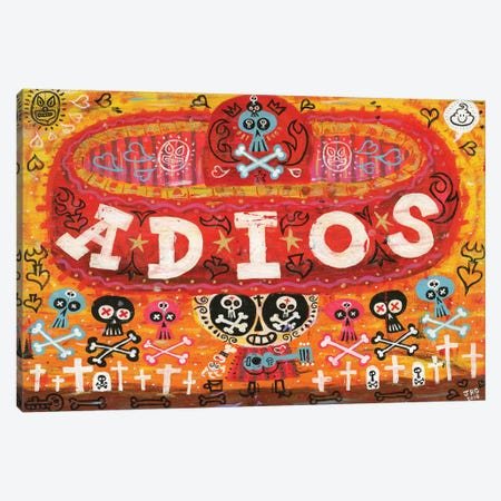 Adios Amigos Canvas Print #JGU1} by Jorge R. Gutierrez Canvas Art