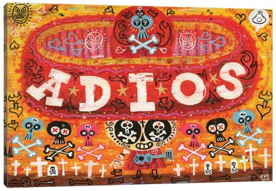Adios Amigos Canvas Art Print