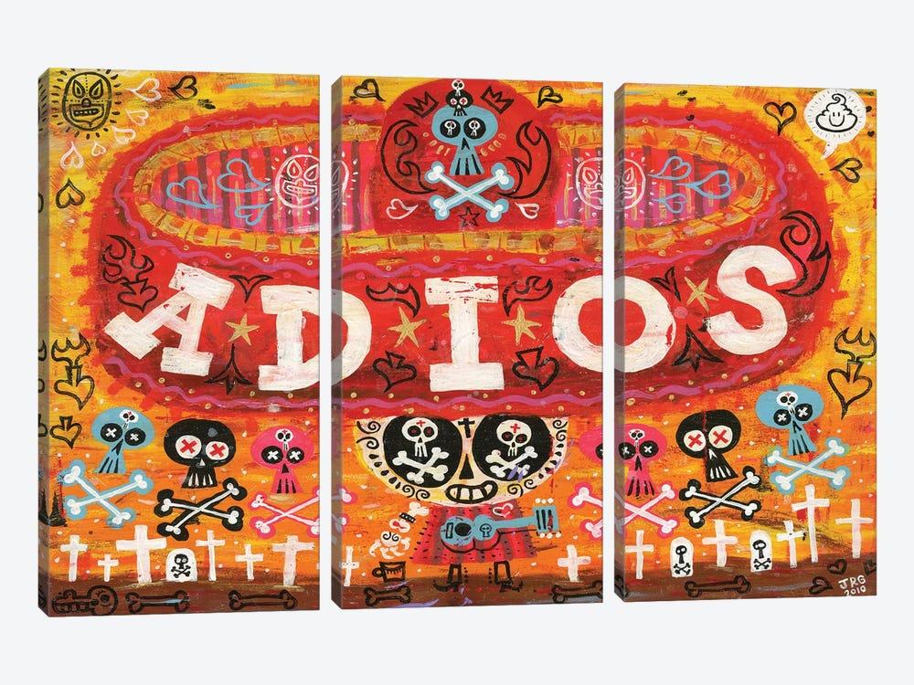 Adios Amigos by Jorge R. Gutierrez 3-piece Canvas Print