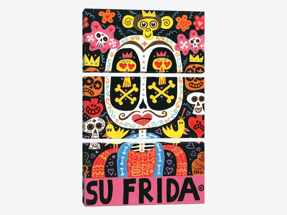 Dolor Feliz Gracias by Jorge R. Gutierrez 3-piece Canvas Art Print