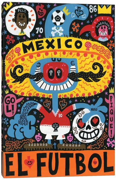 La Mascota del Mundial Canvas Art Print