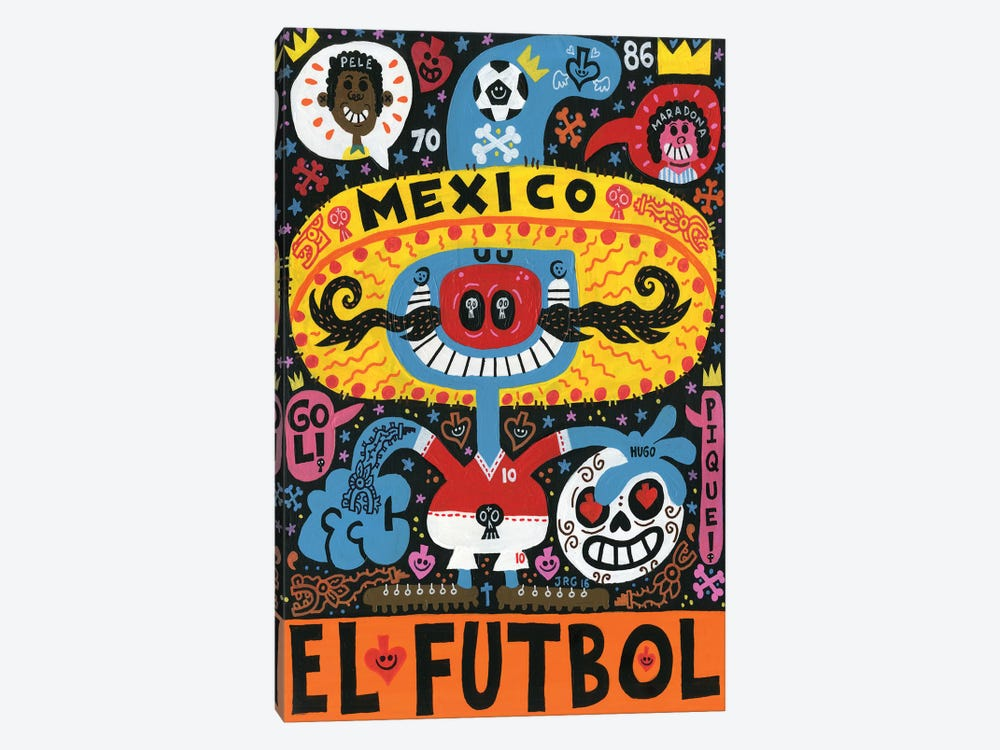 La Mascota del Mundial by Jorge R. Gutierrez 1-piece Canvas Print