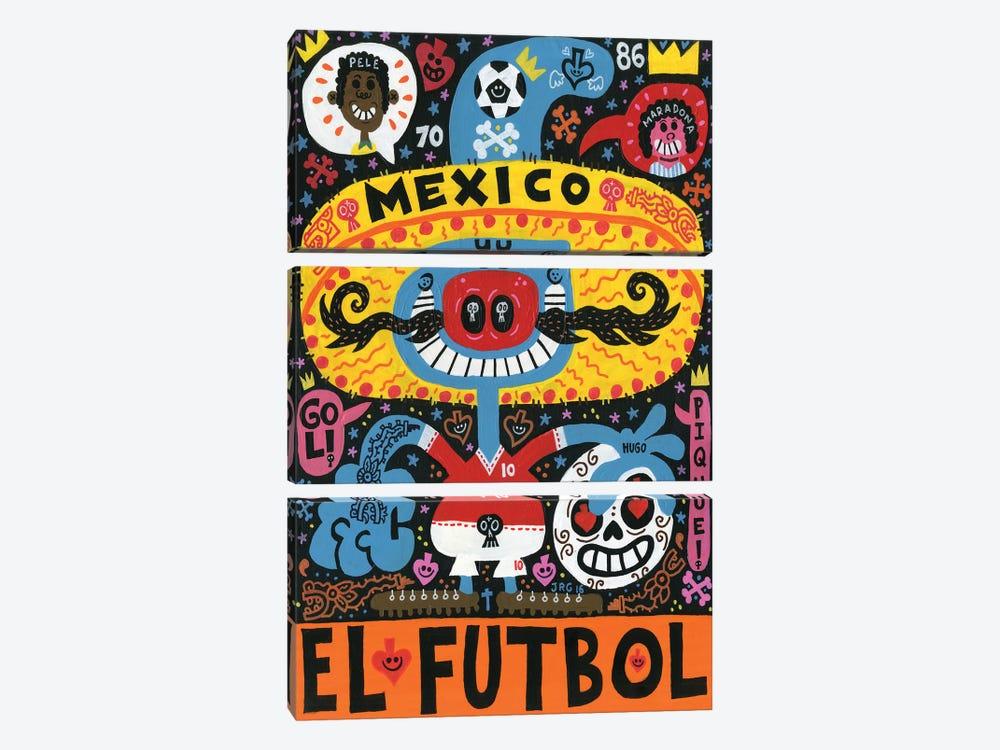 La Mascota del Mundial by Jorge R. Gutierrez 3-piece Canvas Print