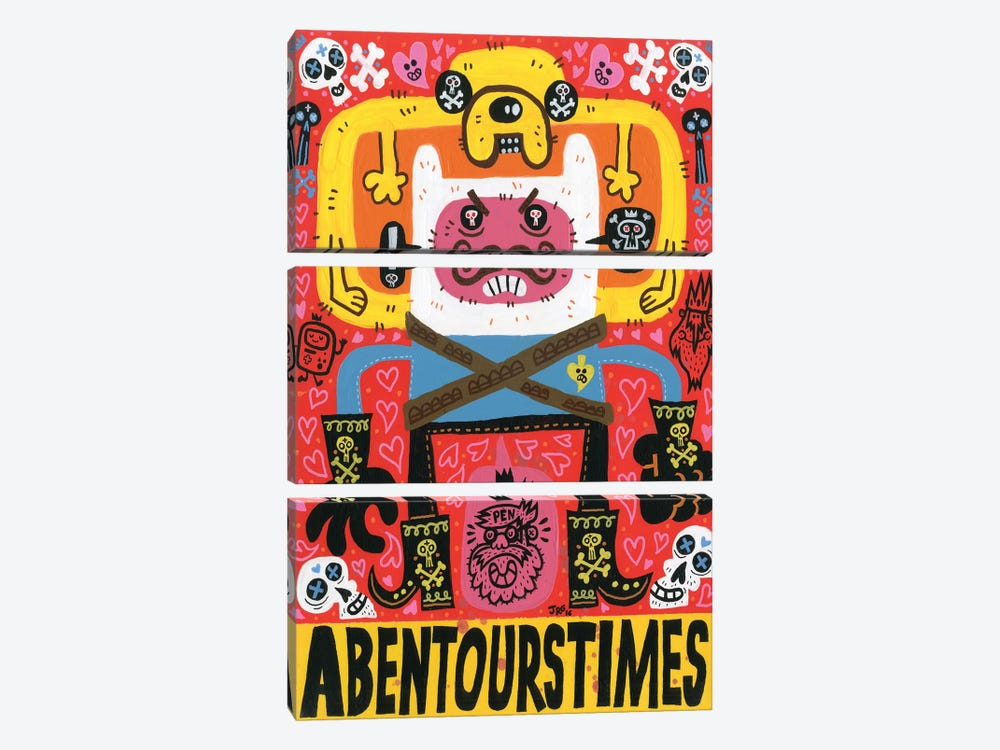 Las Aventuras de Pen by Jorge R. Gutierrez 3-piece Canvas Art