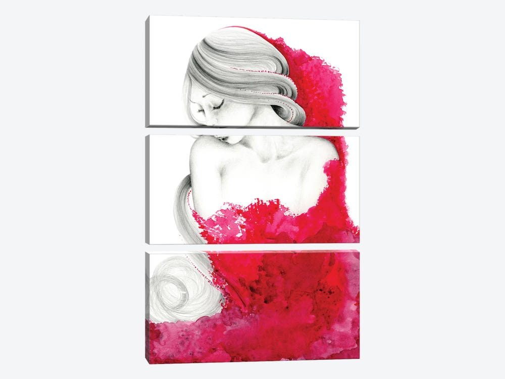 Consumed by Joanna Haber 3-piece Canvas Art Print
