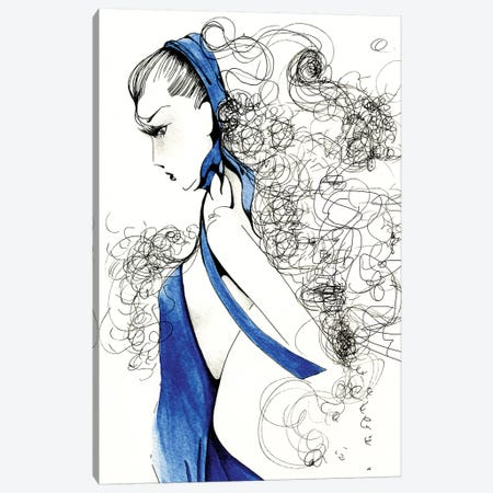 Fierce Canvas Print #JHB16} by Joanna Haber Canvas Art Print