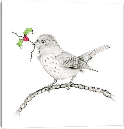 Holly Berry Canvas Art Print
