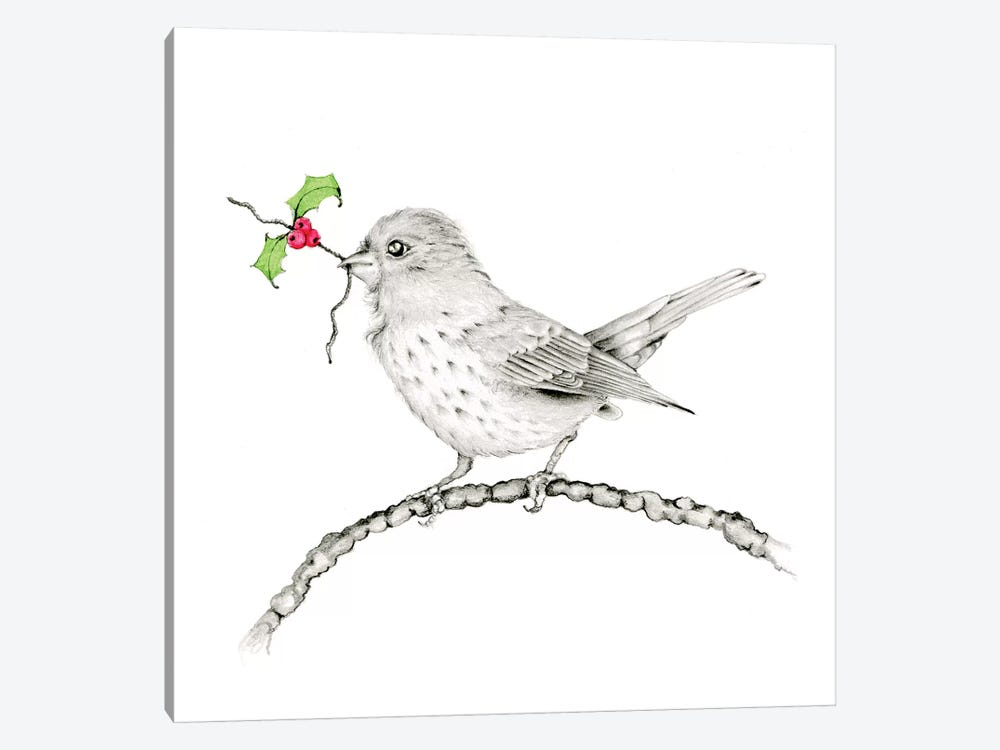 Holly Berry by Joanna Haber 1-piece Canvas Print