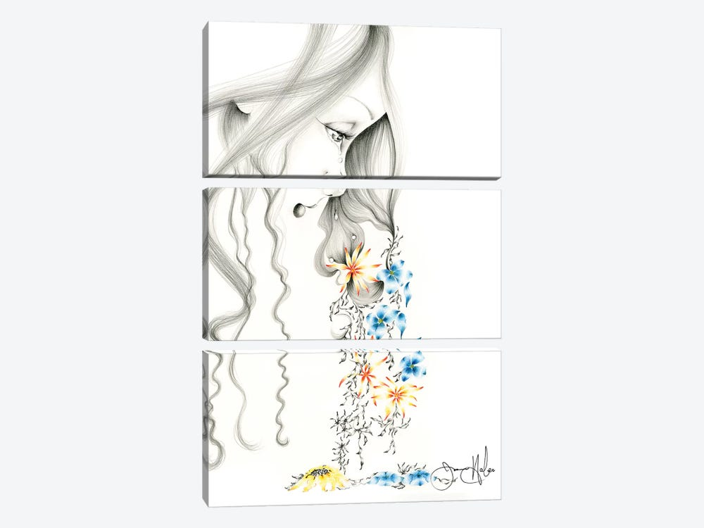 Hurting by Joanna Haber 3-piece Canvas Artwork