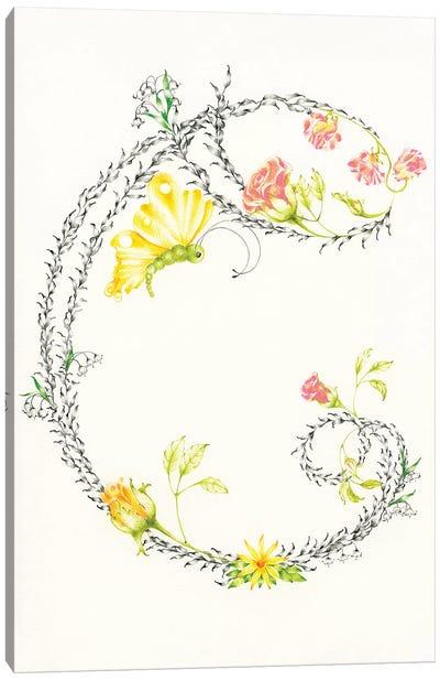 Letter C Canvas Art Print